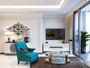 thiết kế nội thất thượng lưu - phòng khách 1