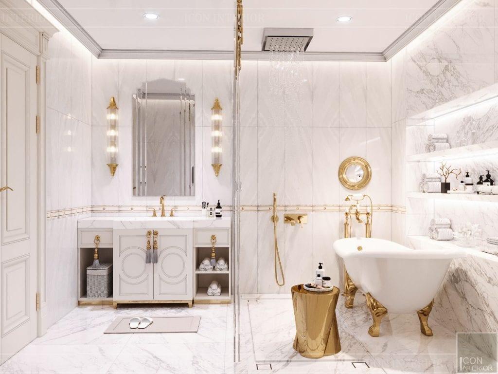 biệt thự tân cổ điển 2 tầng - phòng tắm