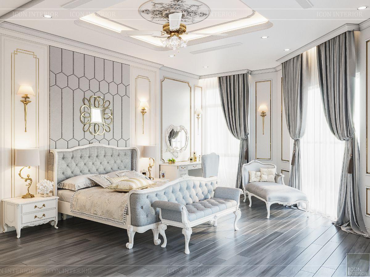 biệt thự tân cổ điển 2 tầng - phòng ngủ master