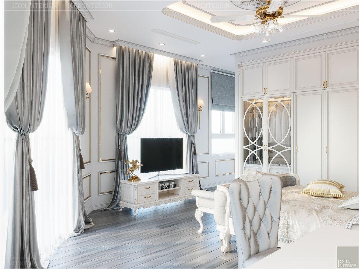 biệt thự tân cổ điển 2 tầng - phòng ngủ master 3