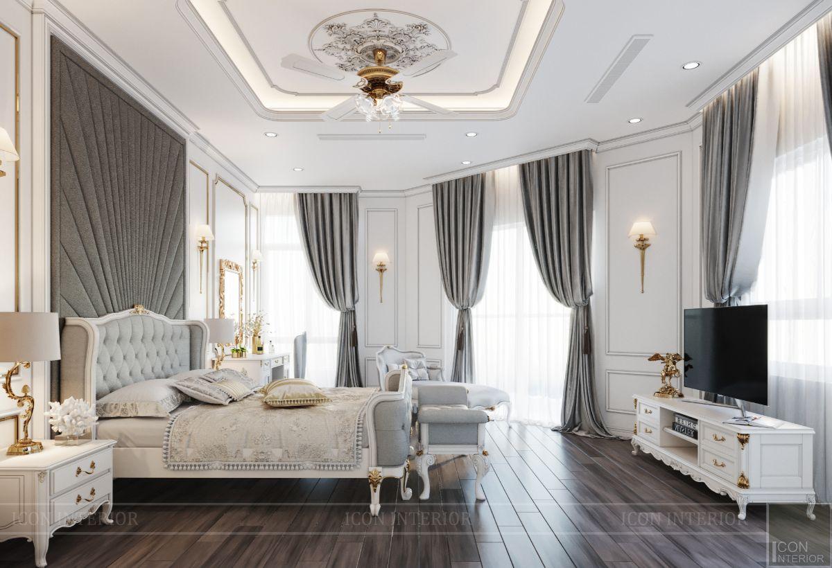 biệt thự tân cổ điển 2 tầng - phòng ngủ ông bà 1