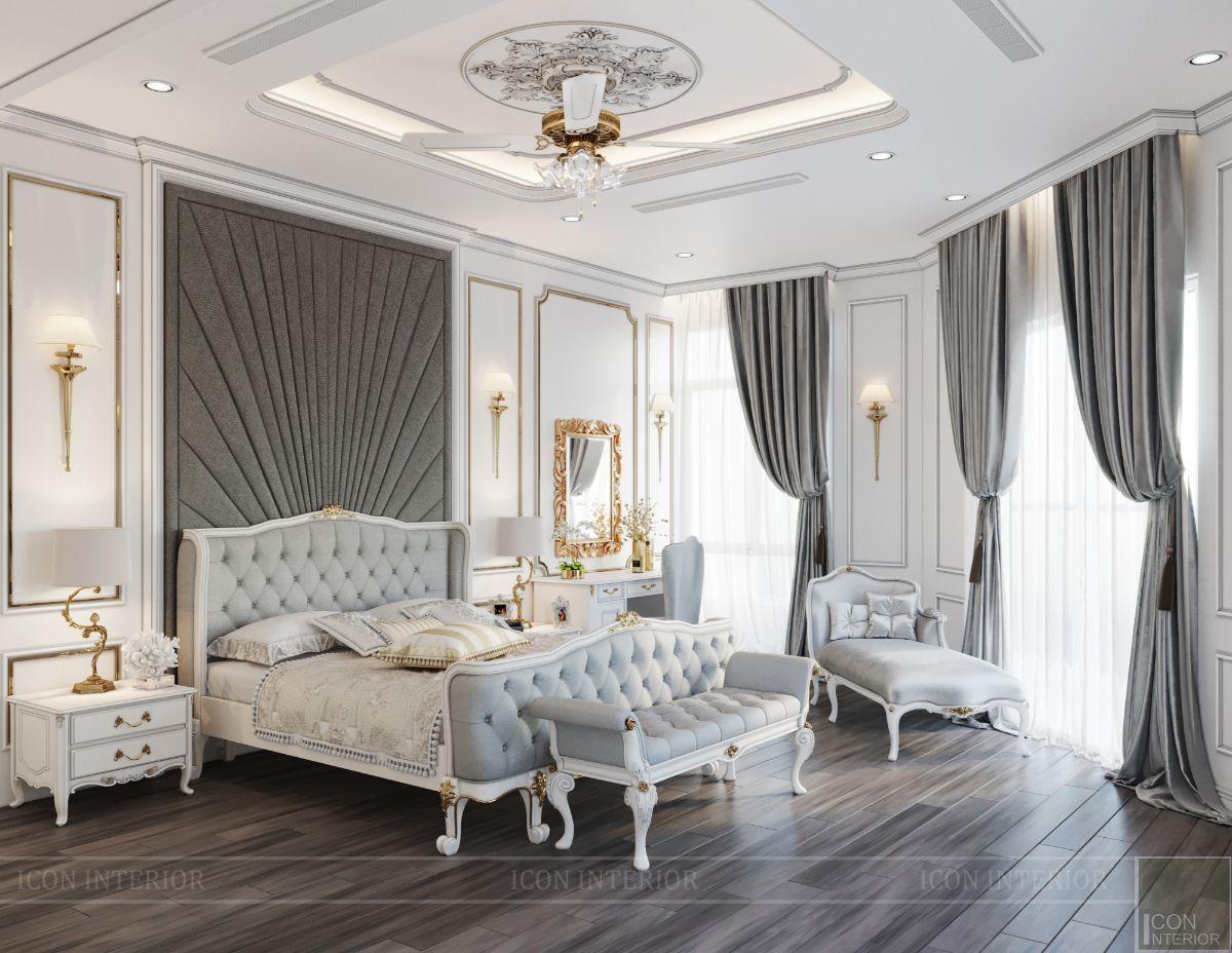 biệt thự tân cổ điển 2 tầng - phòng ngủ ông bà 2