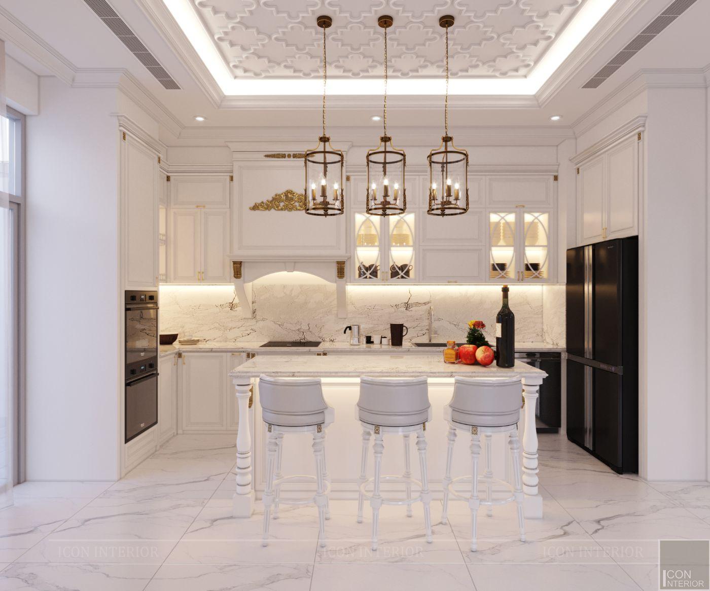 biệt thự tân cổ điển 2 tầng - phòng bếp