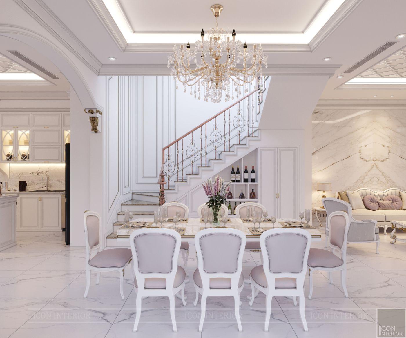 biệt thự tân cổ điển 2 tầng - phòng ăn 1