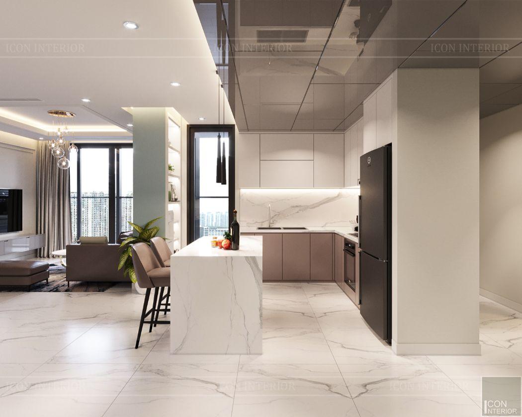thiết kế căn hộ 4 phòng ngủ landmark 81 - phòng bếp