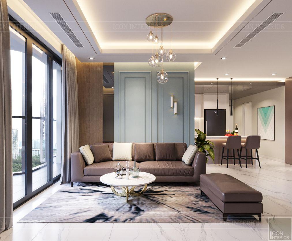 thiết kế căn hộ 4 phòng ngủ landmark 81 - phòng khách 2