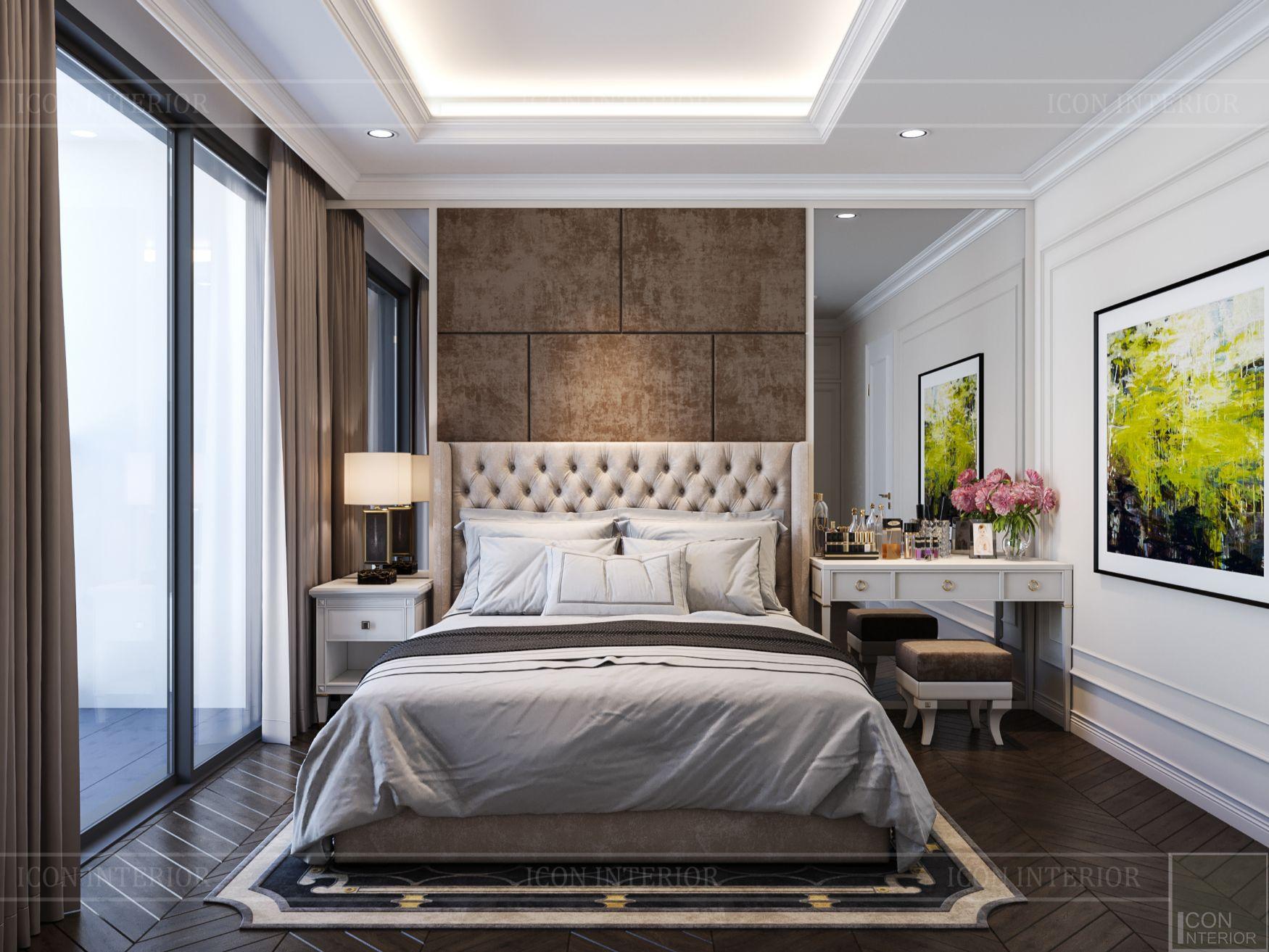 thiết kế nội thất căn hộ midtown - phòng master 2