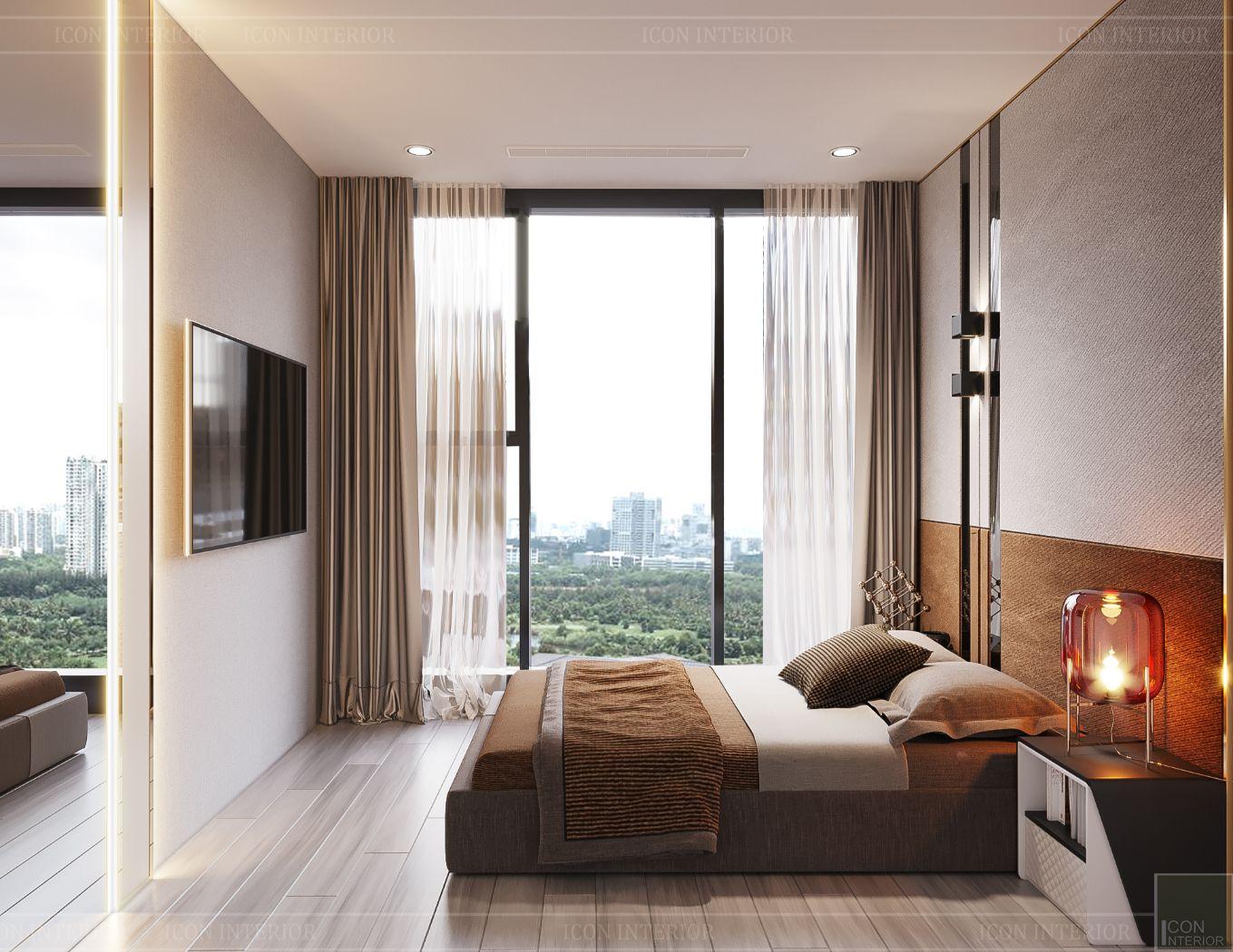 thiết kế phòng ngủ nhỏ căn hộ hiên đại