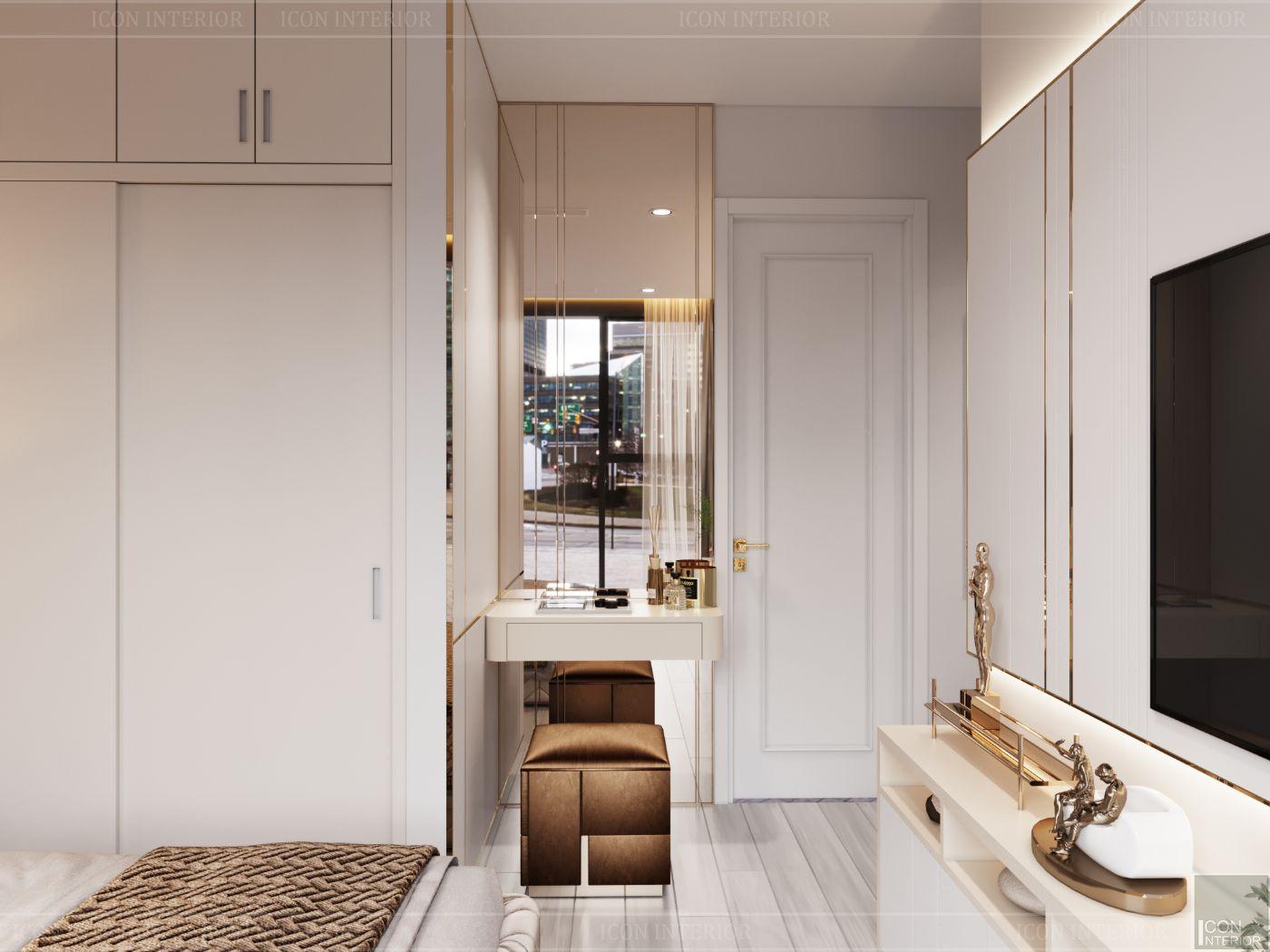 thiết kế căn hộ hiên đại - bàn trang điểm
