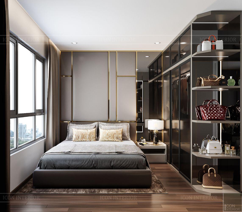 thiết kế nội thất căn hộ saigonmia - phòng ngủ master 2