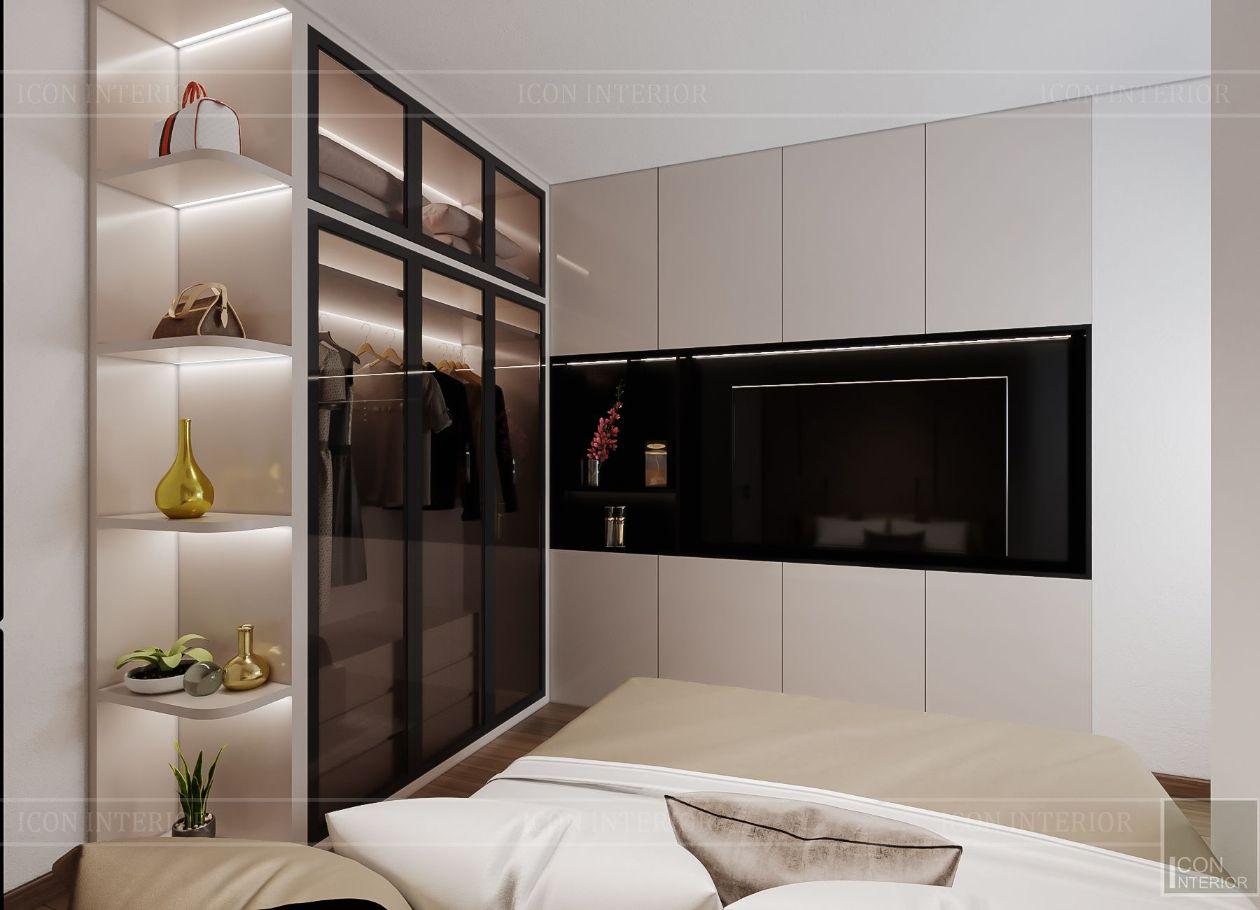 thiết kế nội thất căn hộ saigonmia - phòng ngủ nhỏ 1