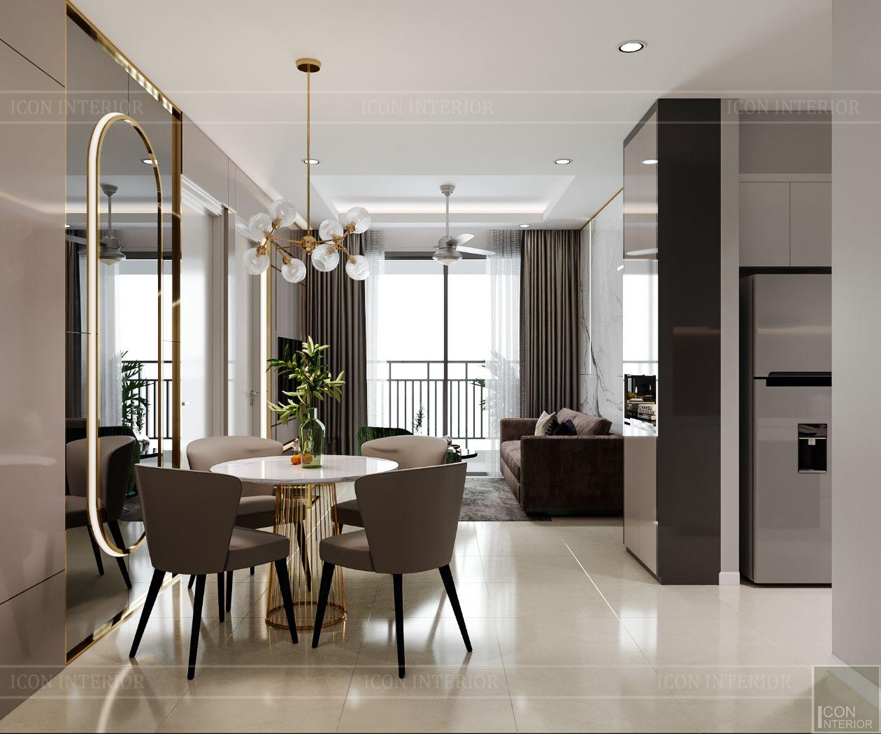 thiết kế nội thất căn hộ saigonmia - phòng khách 4