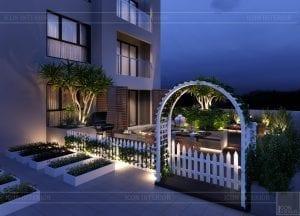 thiết kế nội thất hiện đại căn hộ kingston residence sân vườn 2