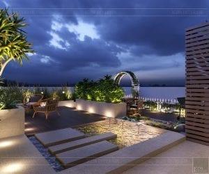thiết kế nội thất hiện đại căn hộ kingston residence sân vườn 3