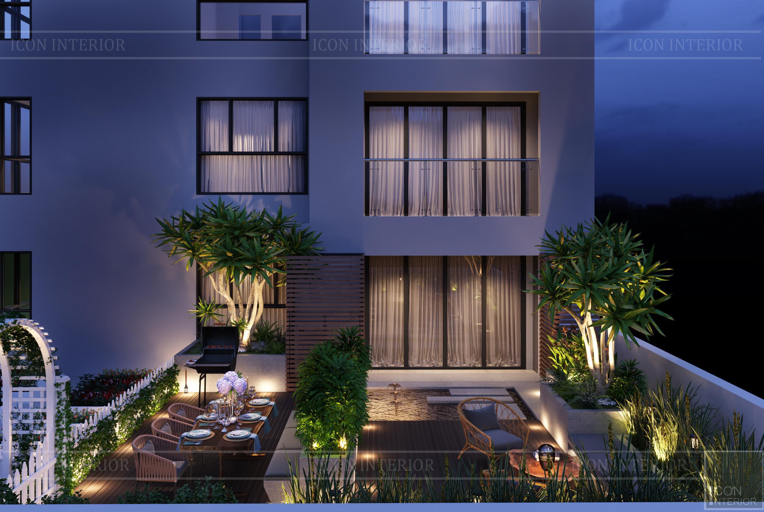 thiết kế nội thất hiện đại căn hộ kingston residence sân vườn 4