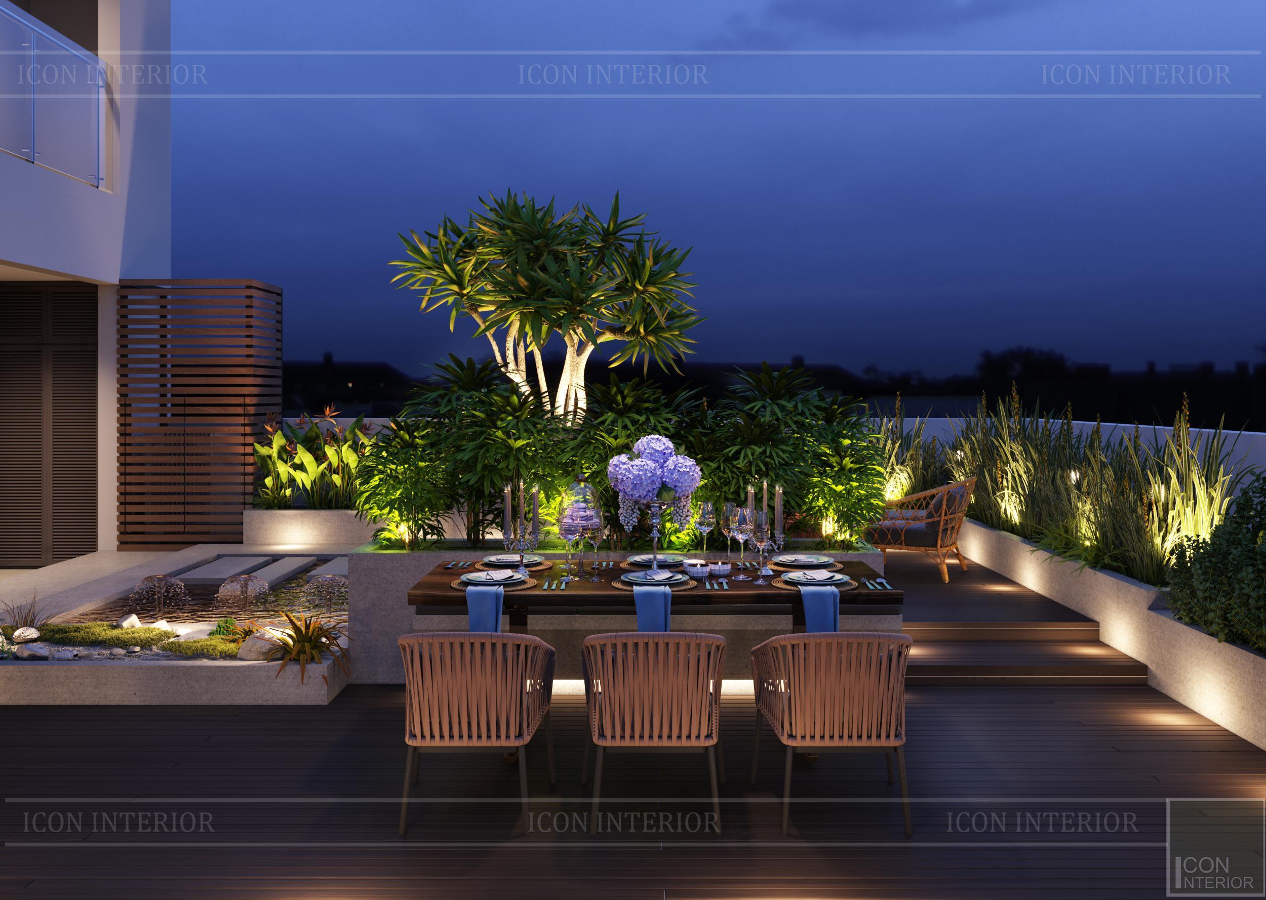 thiết kế nội thất hiện đại căn hộ kingston residence sân vườn 1