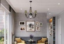 thiết kế nội thất phòng khách phong cách vintage 1