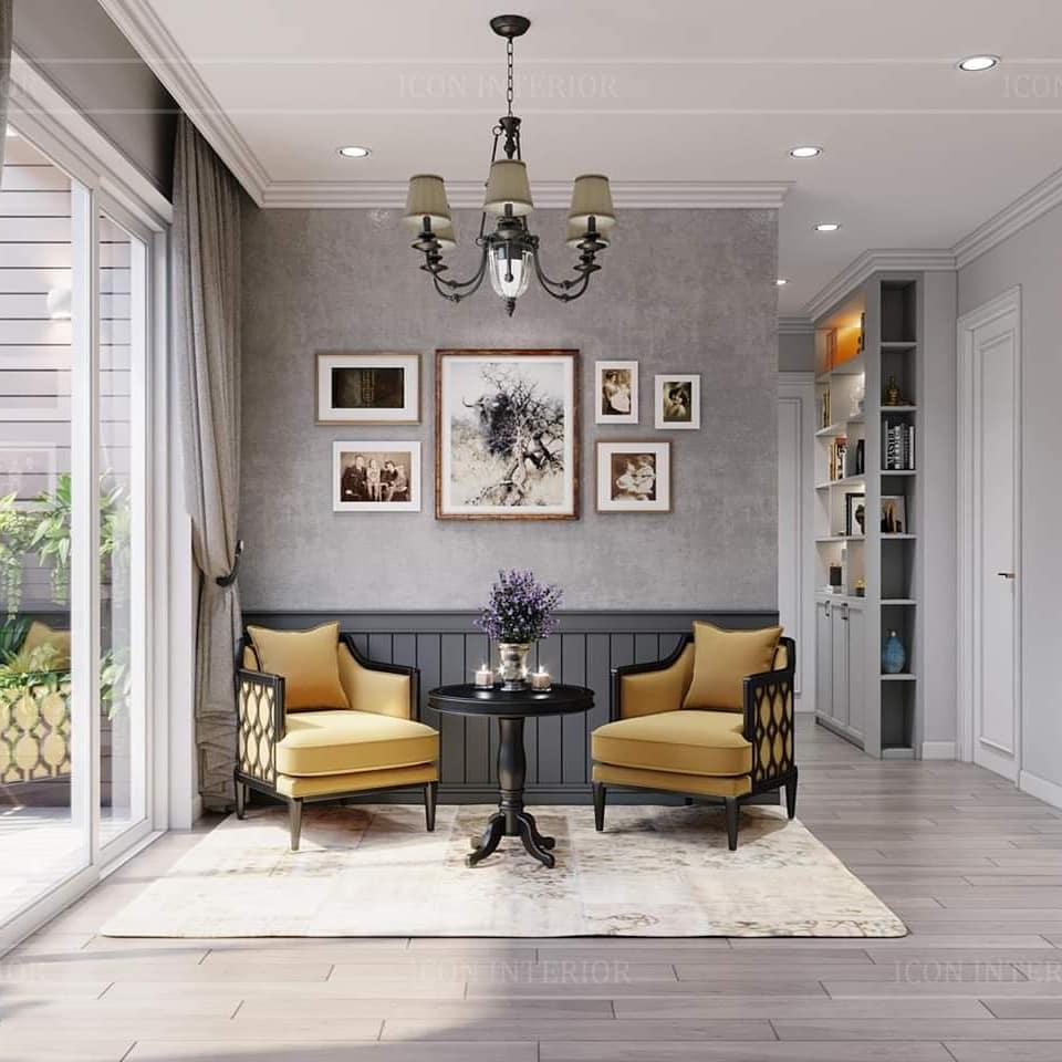 Thiết kế nội thất căn hộ 90m2 vintage