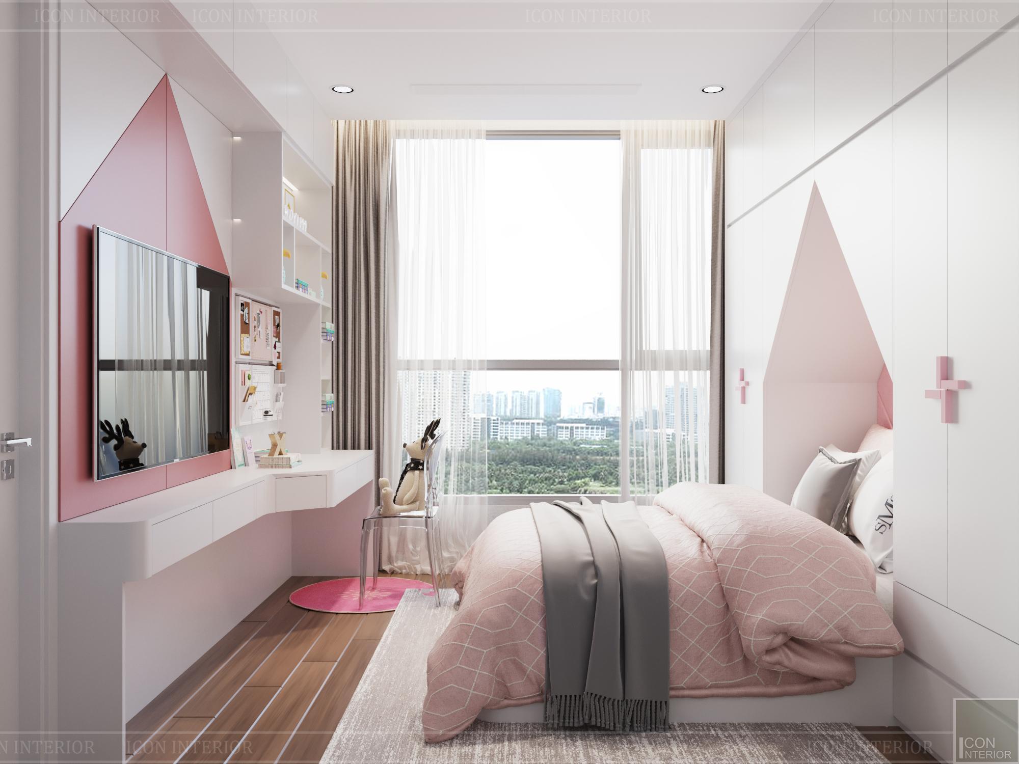 thiết kế căn hộ 3 phòng ngủ hiện đại - phòng ngủ bé 1