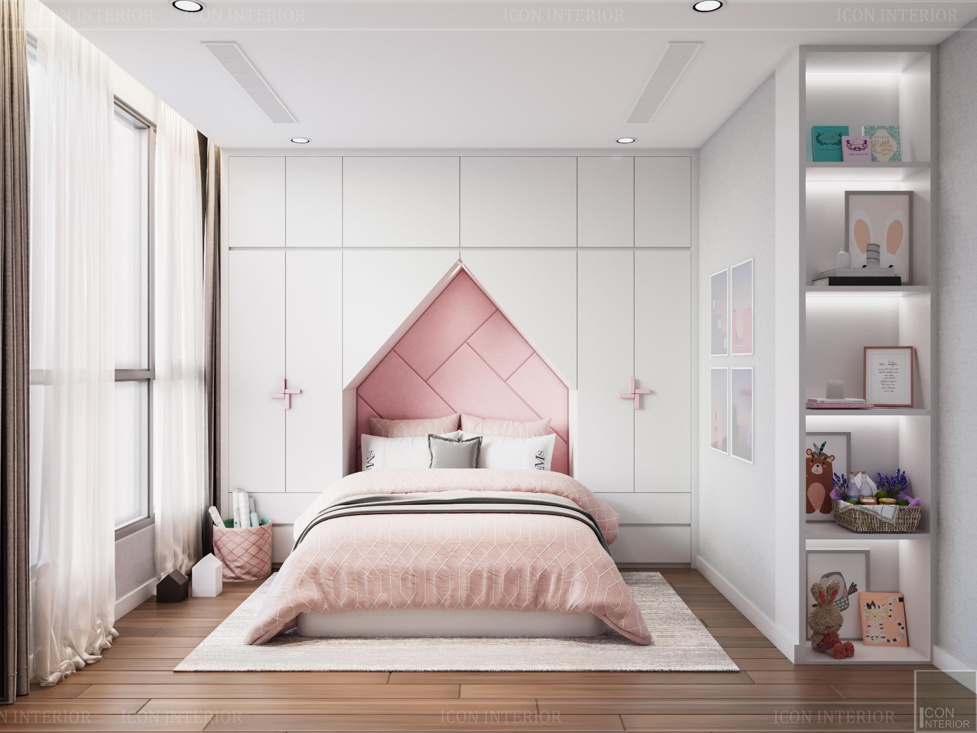 thiết kế căn hộ 3 phòng ngủ hiện đại - phòng ngủ bé 2