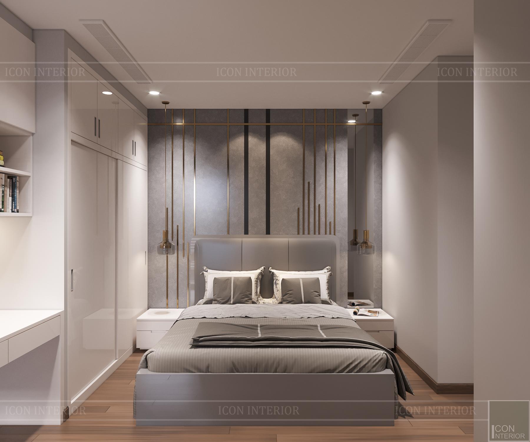 thiết kế căn hộ 3 phòng ngủ hiện đại - phòng ngủ nhỏ 2