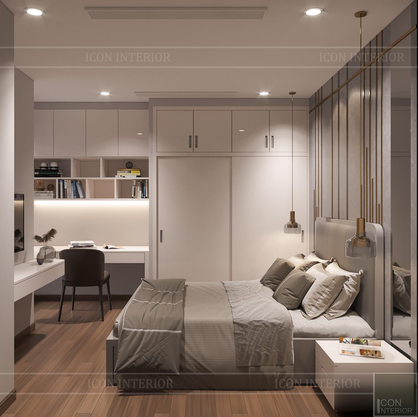thiết kế căn hộ 3 phòng ngủ hiện đại - phòng ngủ nhỏ 1