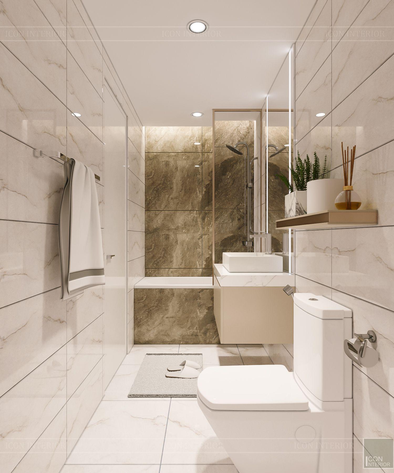 thiết kế căn hộ 3 phòng ngủ phòng tắm