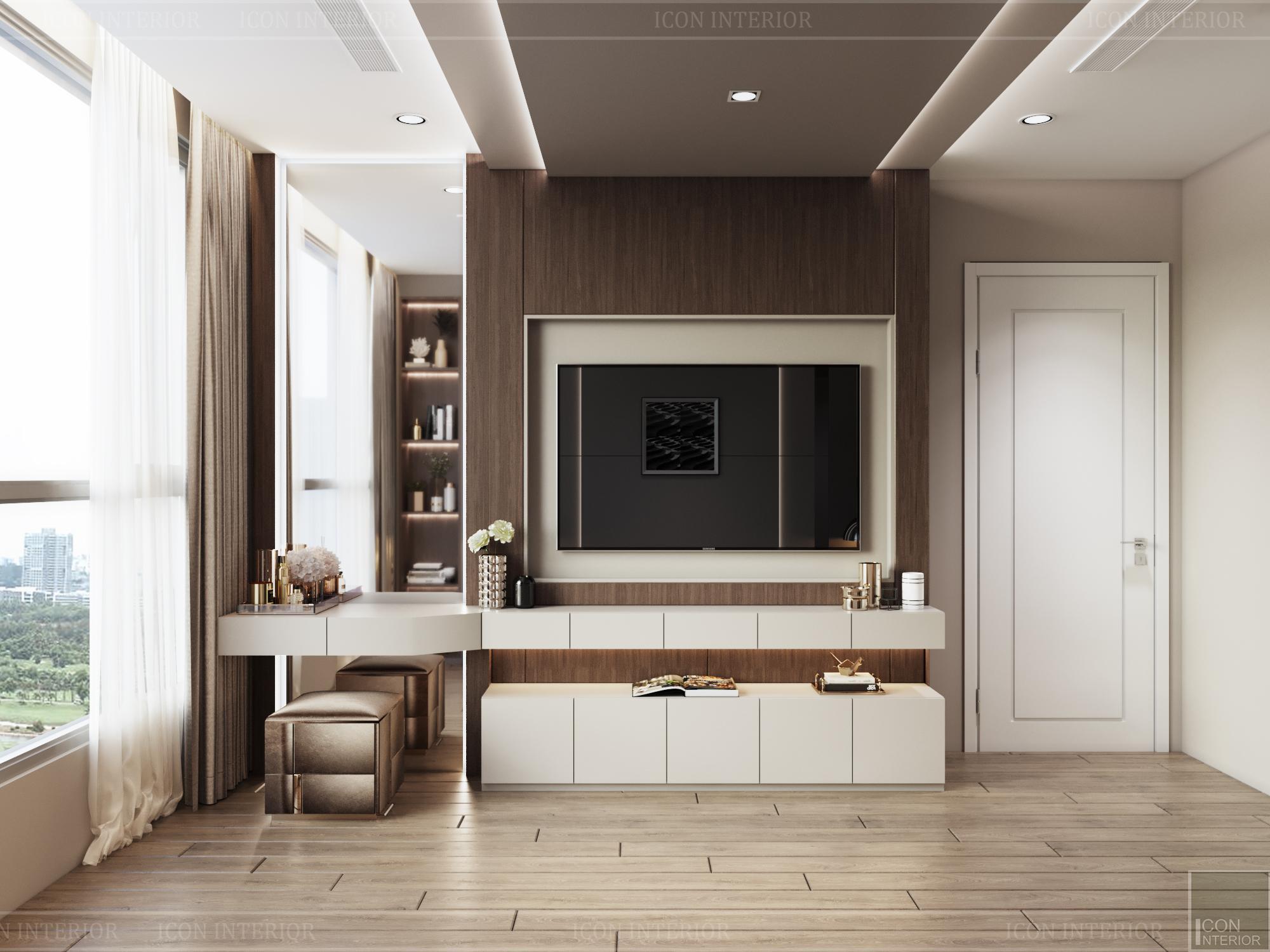 thiết kế căn hộ 3 phòng ngủ hiện đại - phòng ngủ master 1