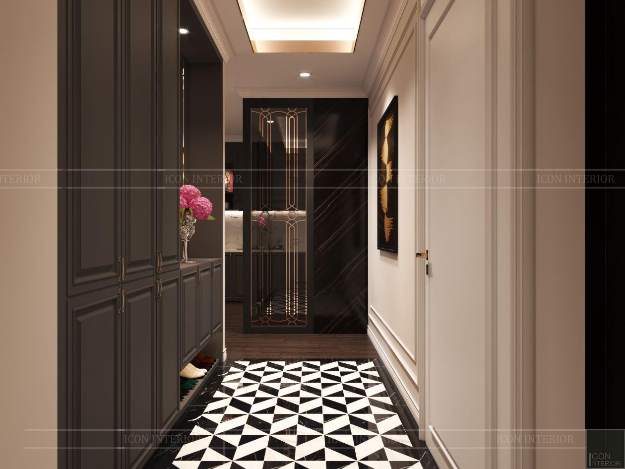 thiết kế căn hộ thảo điền pearl - tiền sảnh
