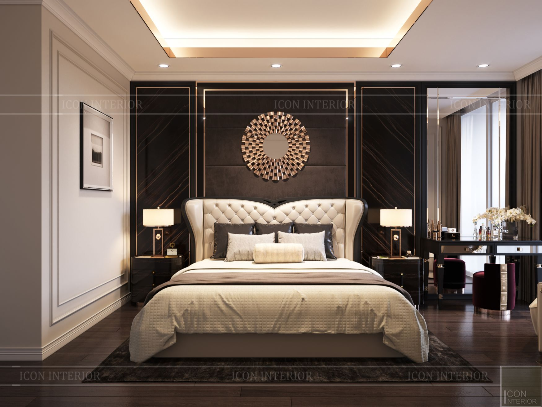 thiết kế căn hộ thảo điền pearl - phòng master