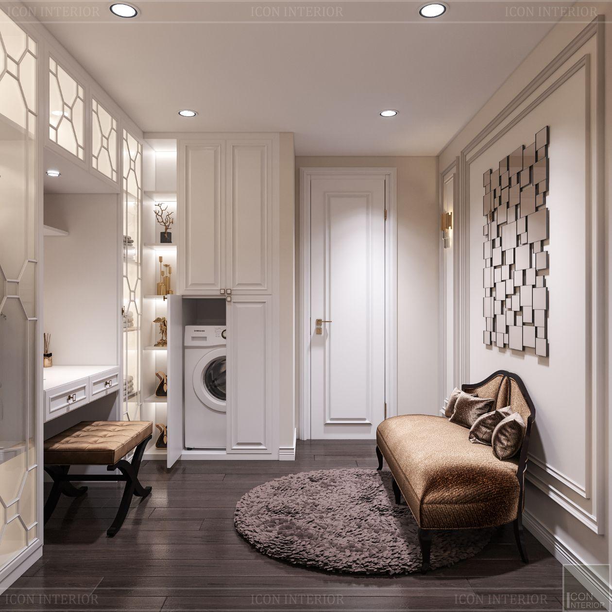 thiết kế căn hộ thảo điền pearl - phòng thay đồ