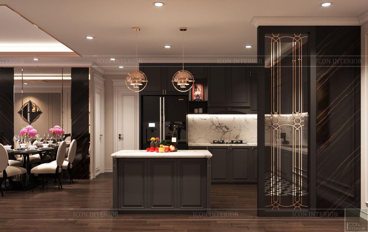 thiết kế căn hộ thảo điền pearl - nhà bếp