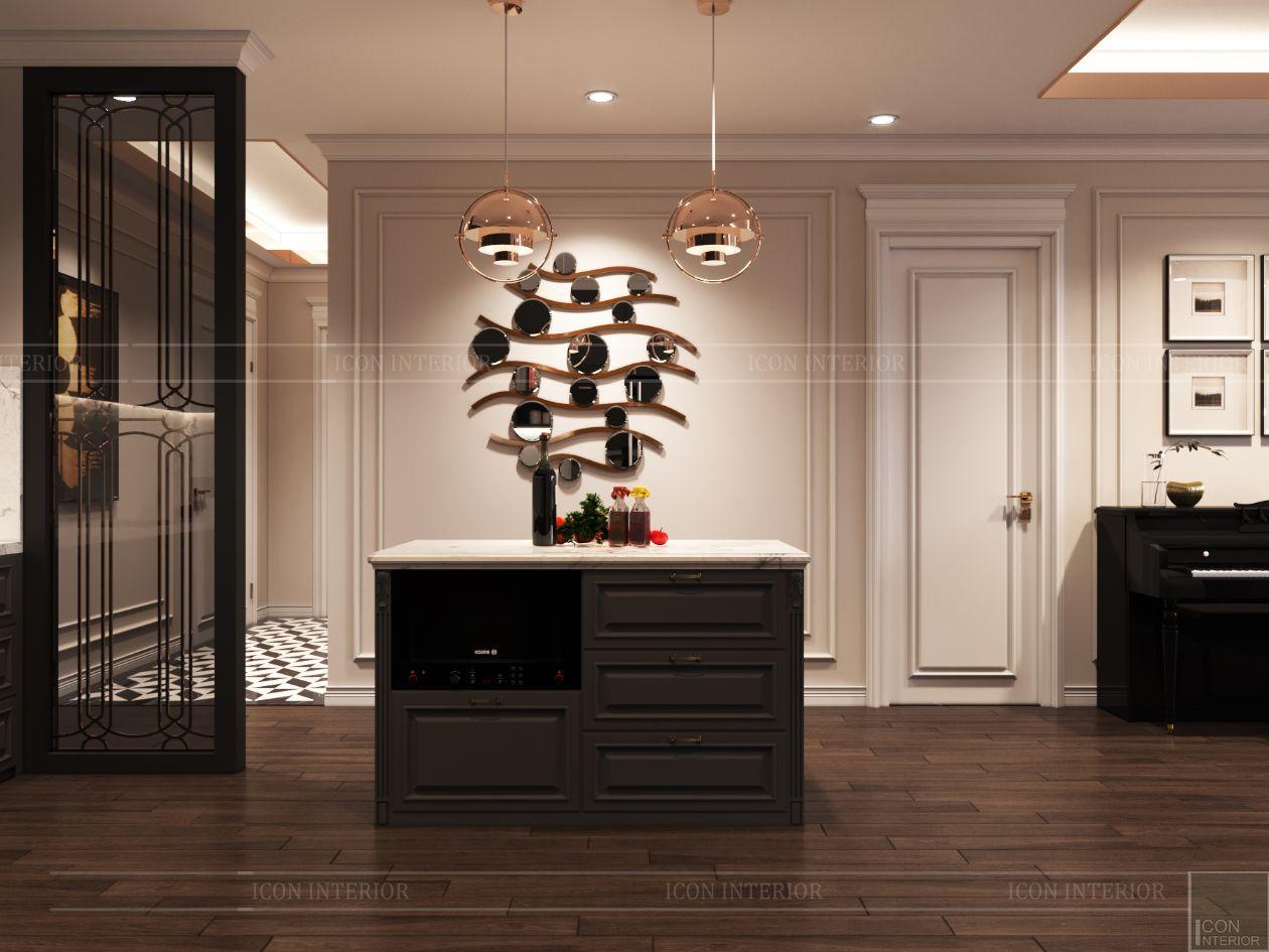 thiết kế căn hộ thảo điền pearl - đảo bếp