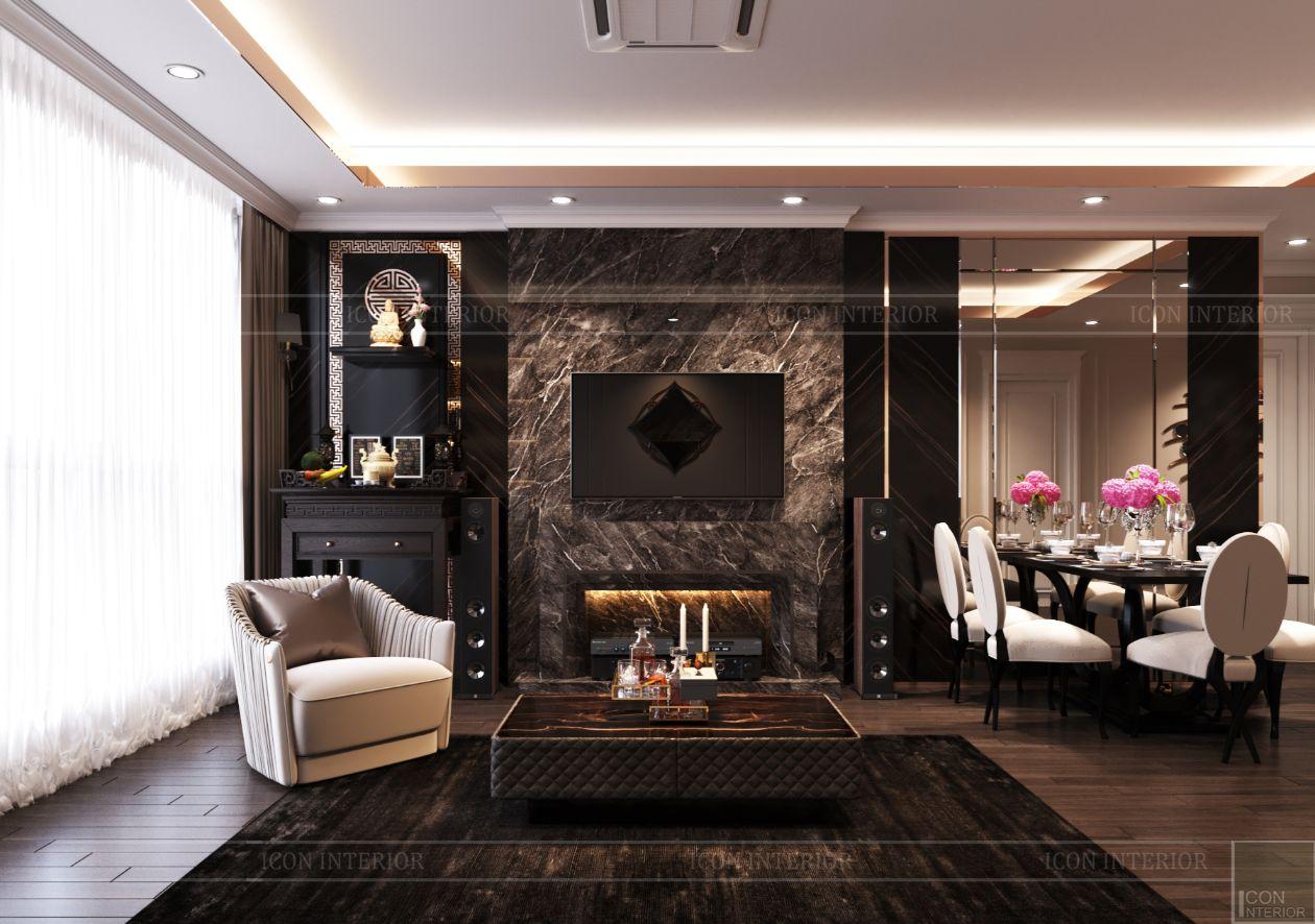 thiết kế căn hộ thảo điền pearl - phòng khách