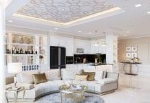 thiết kế chung cư 3 phòng ngủ - phòng khách