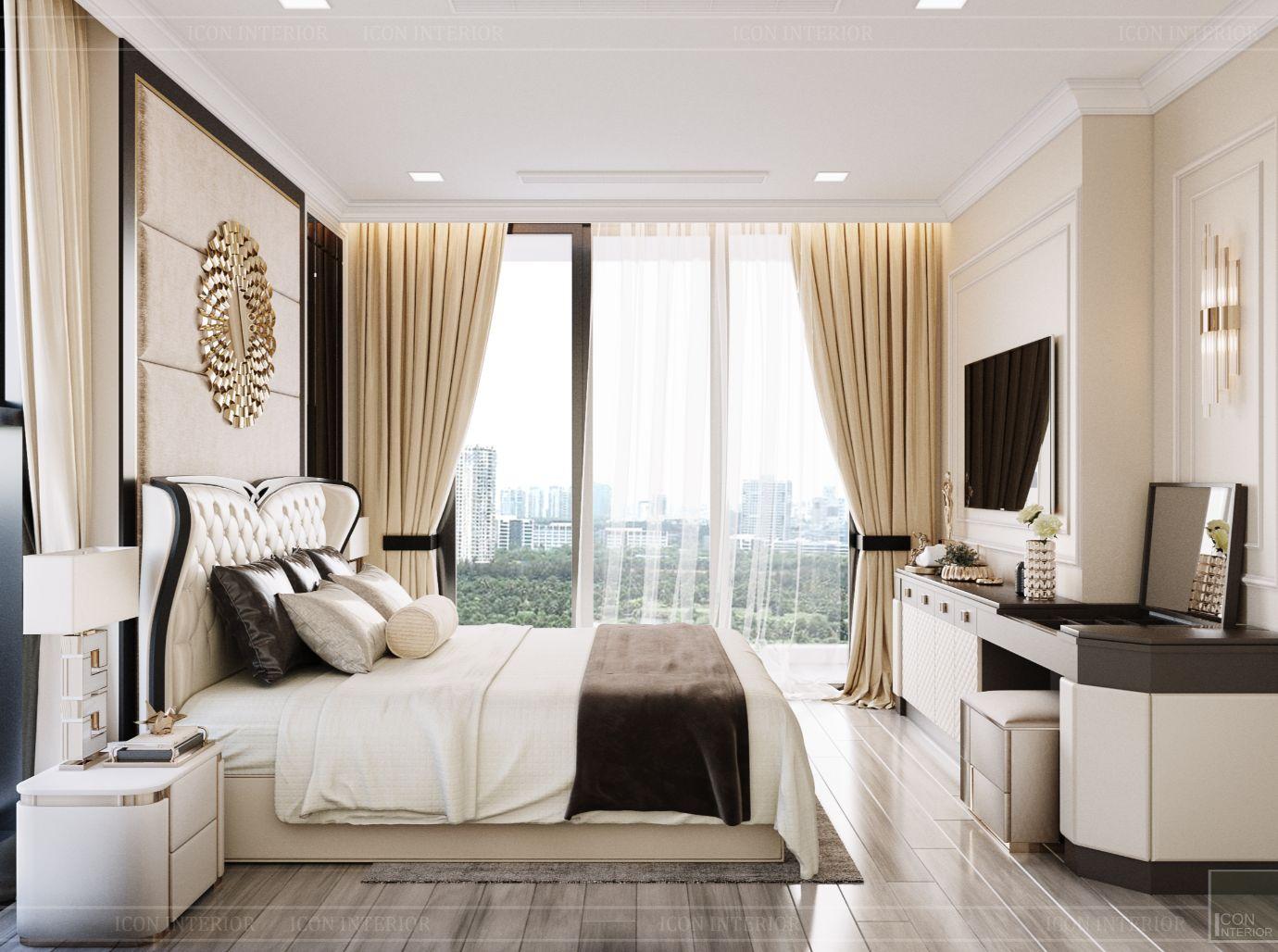 thiết kế chung cư 3 phòng ngủ - phòng ngủ master