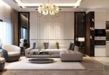 thiết kế nhà phố hiện đại - phòng khách 3