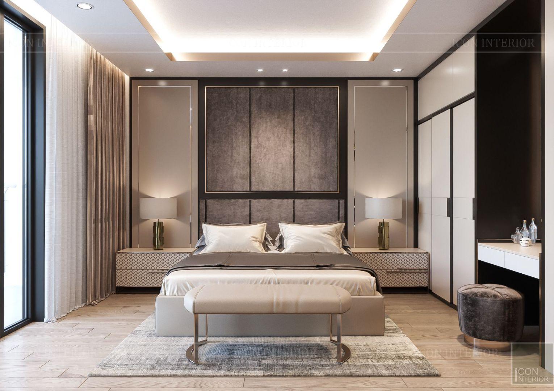 thiết kế nhà phố hiện đại - phòng ngủ master 1