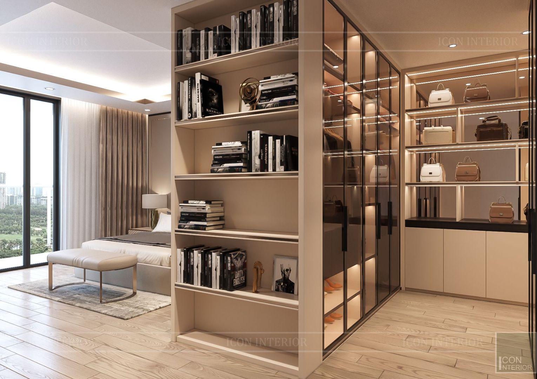 thiết kế nhà phố hiện đại - tủ quần áo 1