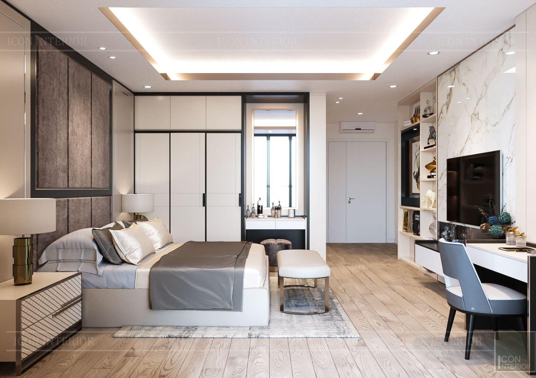thiết kế nhà phố hiện đại - phòng ngủ master 2