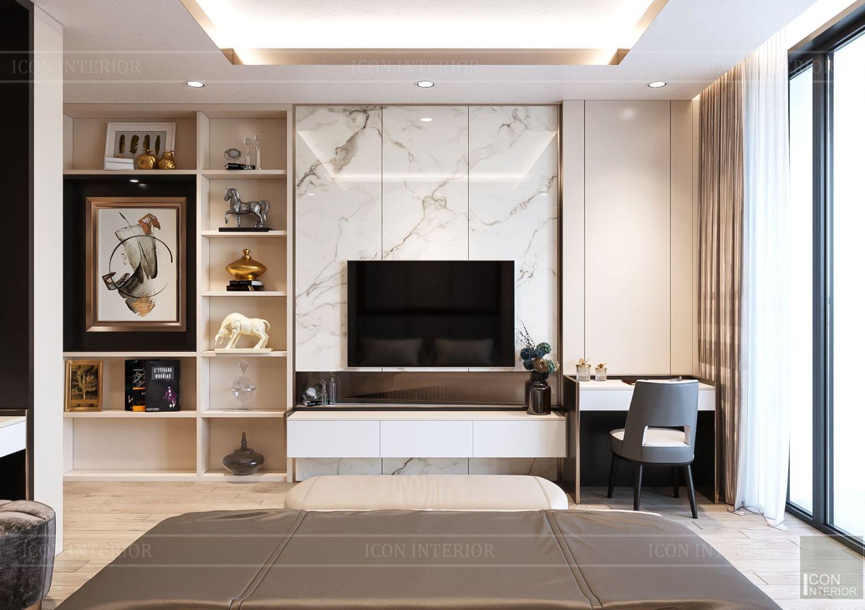 thiết kế nhà phố hiện đại - phòng ngủ master 3