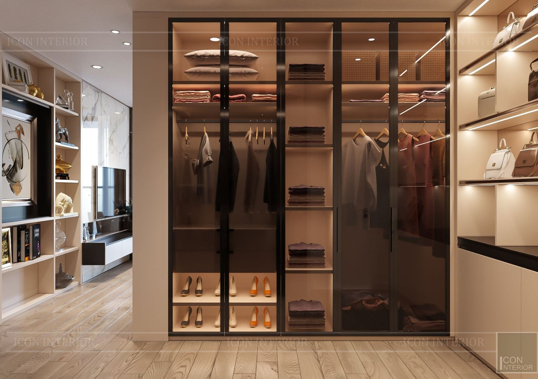 thiết kế nhà phố hiện đại - tủ quần áo 2