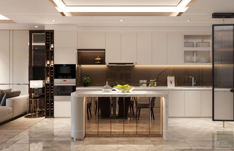thiết kế nhà phố hiện đại - nhà bếp