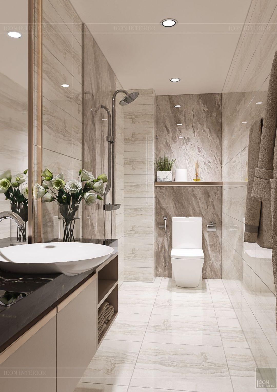 thiết kế nhà phố hiện đại - phòng tắm