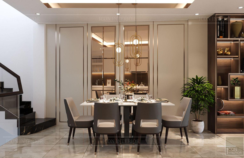 thiết kế nhà phố hiện đại - phòng ăn