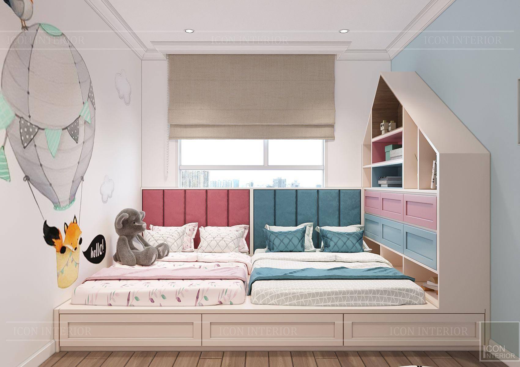 thiết kế căn hộ sunrise city - phòng ngủ trẻ em 3