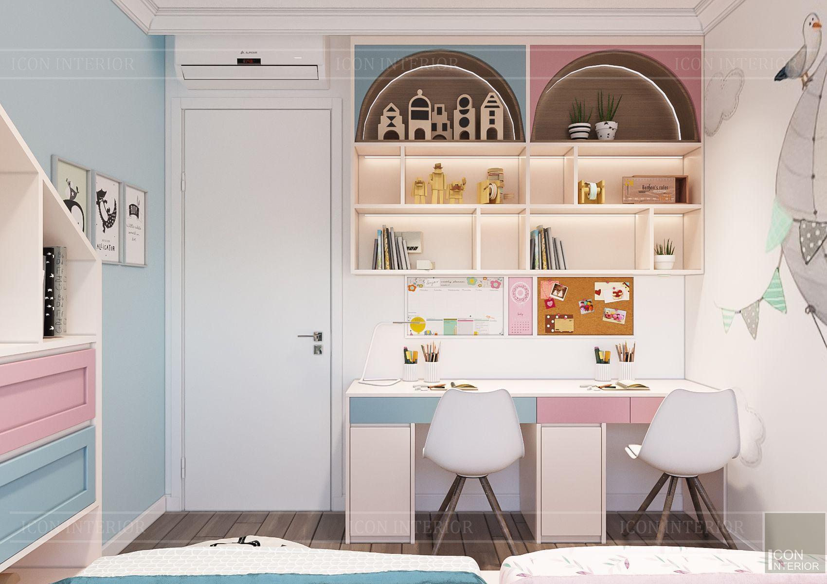 thiết kế căn hộ sunrise city - phòng ngủ trẻ em 4