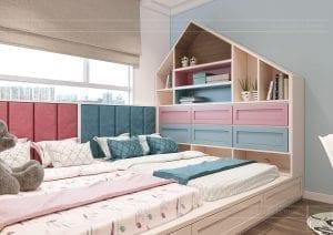 thiết kế căn hộ sunrise city - phòng ngủ trẻ em 2