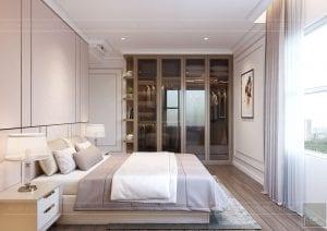 thiết kế căn hộ sunrise city - phòng ngủ master 1