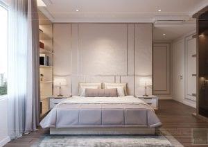thiết kế căn hộ sunrise city - phòng ngủ master
